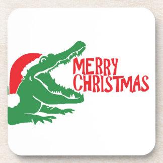 わにクリスマスのコルクのコースター コースター