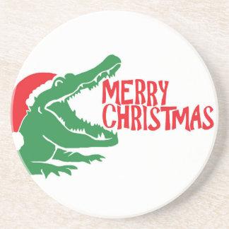 わにクリスマスのコースター コースター