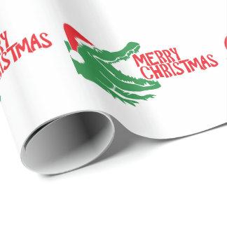 わにクリスマスの包装紙 ラッピングペーパー