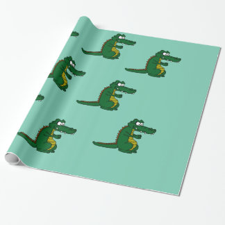 わにデザインの包装紙 ラッピングペーパー