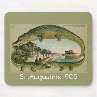 わにボーダーセント・オーガスチンフロリダ1905年、St… マウスパッド