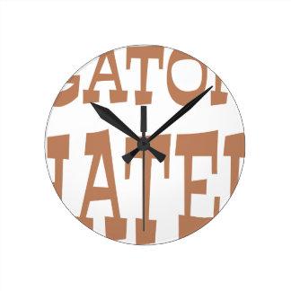 わに嫌悪症の青銅のデザイン ラウンド壁時計