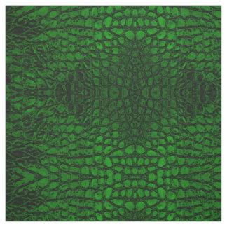 わに緑の模造のな革 ファブリック