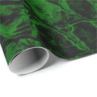 わに緑の模造のな革 ラッピングペーパー
