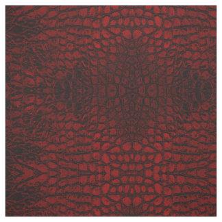 わに赤く模造のな革 ファブリック