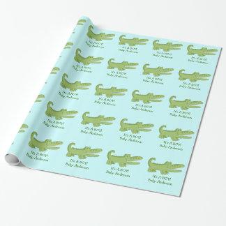 わに/ワニのカスタマイズ可能な包装紙 ラッピングペーパー