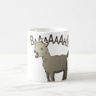 わめくヤギの落書きのヌードルのデザイン コーヒーマグカップ