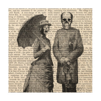わめく女性およびスカル ウッドウォールアート