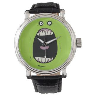 わめく緑モンスターの腕時計 腕時計