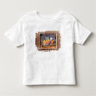 わらで覆われたつぼ、卓上砂糖入れおよびりんご トドラーTシャツ