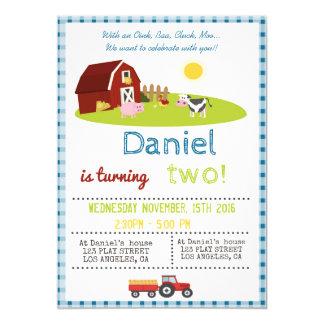 を使ってOINK、羊の鳴き声、鳴き声、MOOの農場の誕生会 カード