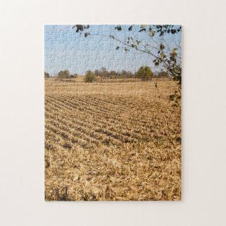 アイオワのとうもろこし畑のパノラマの写真 ジグソーパズル