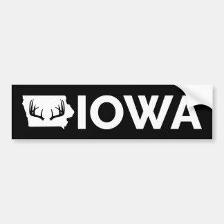 アイオワのシカの狩り バンパーステッカー
