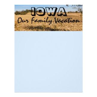 アイオワの休暇のスクラップブック作りの紙のページ レターヘッド