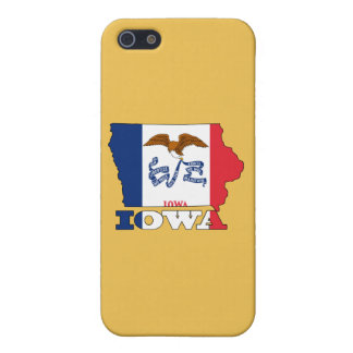 アイオワの地図の旗 iPhone 5 CASE