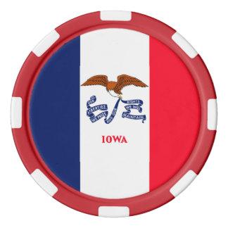 アイオワの州の旗のデザイン ポーカーチップ