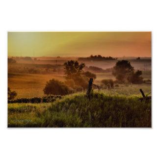 アイオワの田園日没 フォトプリント