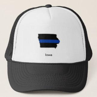 アイオワの薄いブルーライントラック運転手の帽子 キャップ