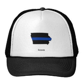 アイオワの薄いブルーライントラック運転手の帽子 トラッカーハット