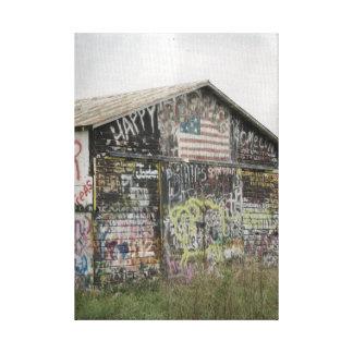 アイオワのGraffittiの納屋 キャンバスプリント