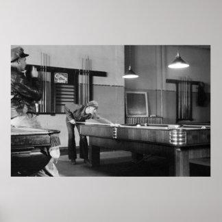 アイオワビリヤード場1940年 ポスター