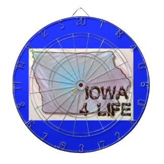 """""""アイオワ4生命""""の州の地図のプライドのデザイン ダーツボード"""