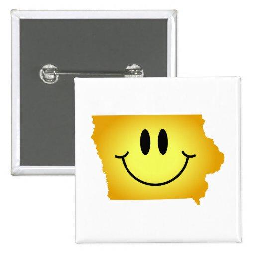 アイオワ|スマイリー|顔 ピンバッジ