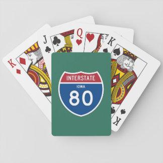 アイオワIA I-80の州間幹線道路の盾- トランプ