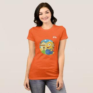 アイオワVIPKIDボタン(オレンジ) Tシャツ