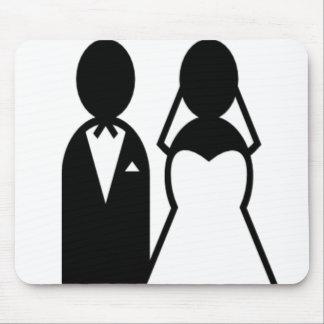 アイコン結婚式のカップル マウスパッド