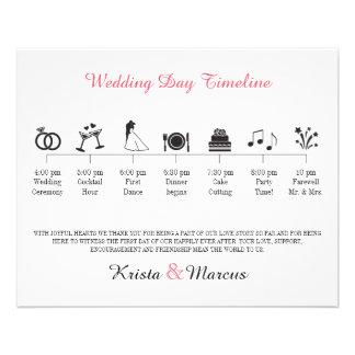 アイコン結婚式のタイムラインプログラム チラシ
