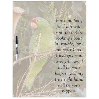 アイザイアの聖書の聖なる書物、経典の野生のオウムの鳥板 ホワイトボード