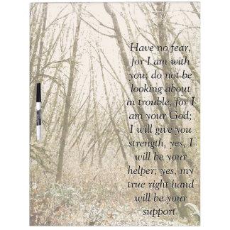 アイザイアの聖書の詩の聖なる書物、経典の森の木板 ホワイトボード