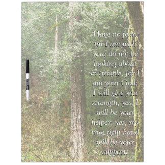 アイザイアの聖書の詩の聖なる書物、経典の森林木板 ホワイトボード
