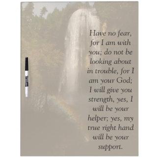 アイザイアの聖書の詩の聖なる書物、経典の滝の消去板 ホワイトボード