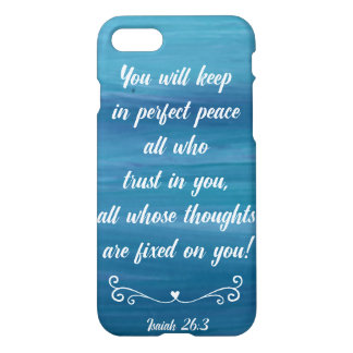 アイザイアの26:3の青い水彩画Phonecase iPhone 7ケース