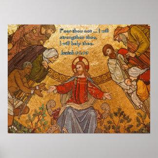 アイザイアの41:10のイエス・キリストのモザイク ポスター