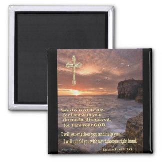 アイザイアの41:10のクリスチャンのギフト マグネット