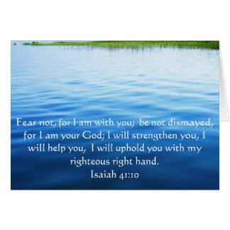 アイザイアの41:10の感動的な聖書の詩 カード