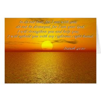 アイザイアの41:10の聖書の引用文カード-そう恐れないで下さい カード