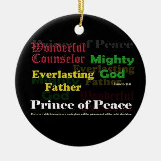 アイザイアの9:6のクリスマスのオーナメント セラミックオーナメント