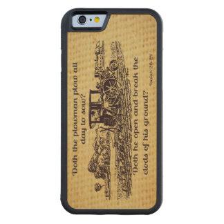アイザイア28ヴィンテージの農家24のiphone 6木箱 CarvedメープルiPhone 6バンパーケース