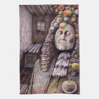 アイザックニュートンりんごの台所タオル キッチンタオル