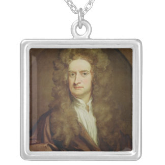 アイザックニュートン1702年のポートレート シルバープレートネックレス