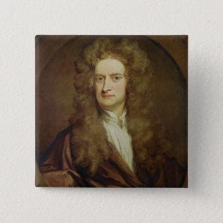 アイザックニュートン1702年のポートレート 5.1CM 正方形バッジ