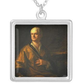 アイザックニュートン1710年 シルバープレートネックレス