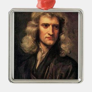 アイザックニュートン(1642-1727年)のポートレート メタルオーナメント
