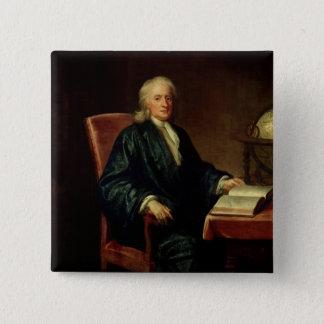 アイザックニュートン、c.1726のポートレート 5.1cm 正方形バッジ
