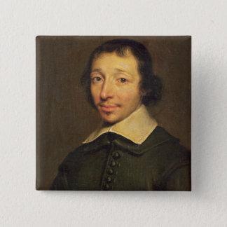 アイザックルイLemaistre de Sacy 1658年のポートレート 5.1cm 正方形バッジ