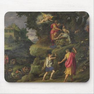 アイザック1601年の犠牲(パネルの油) マウスパッド